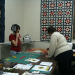 Grandaughter in quilting class